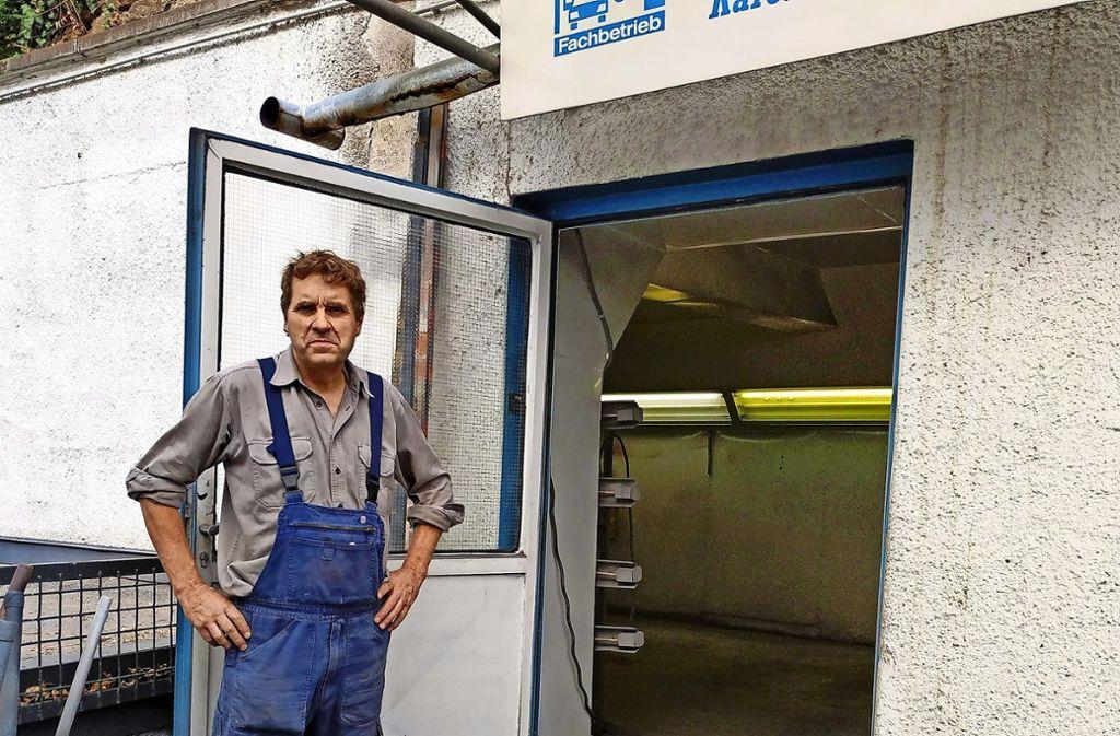 Peter Reinsch hat den Betrieb von seinem Vater übernommen. Foto: Kathrin Wesely