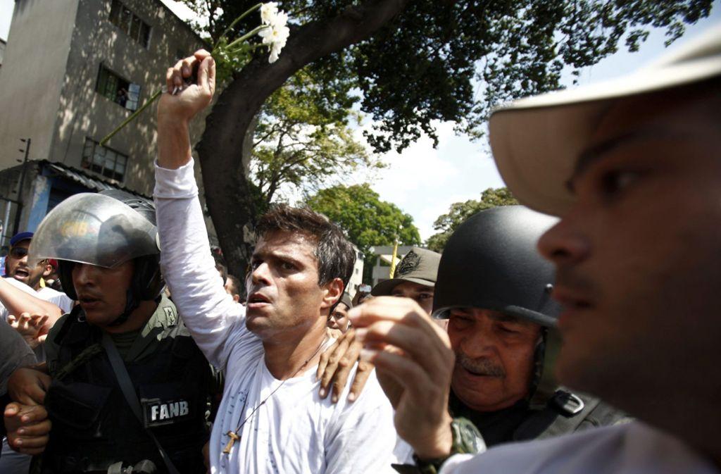 Leopoldo López will die Regierung um Staatschef Nicolás Maduro stürzen. Foto: AP