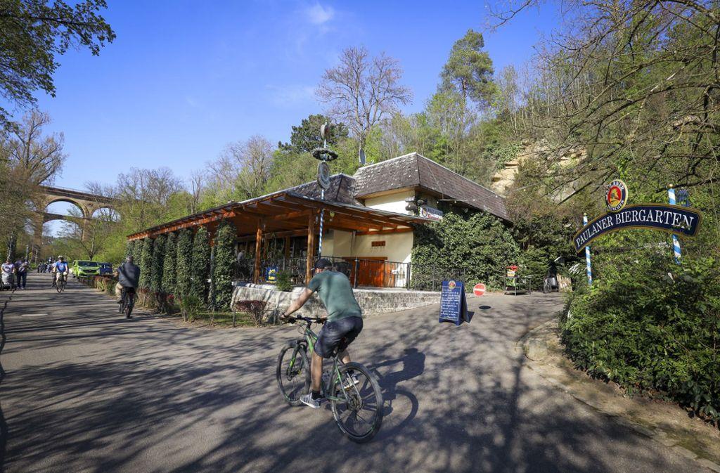 Der Paulaner-Biergarten in Bietigheim darf wieder öffnen – zumindest teilweise. Foto: factum/