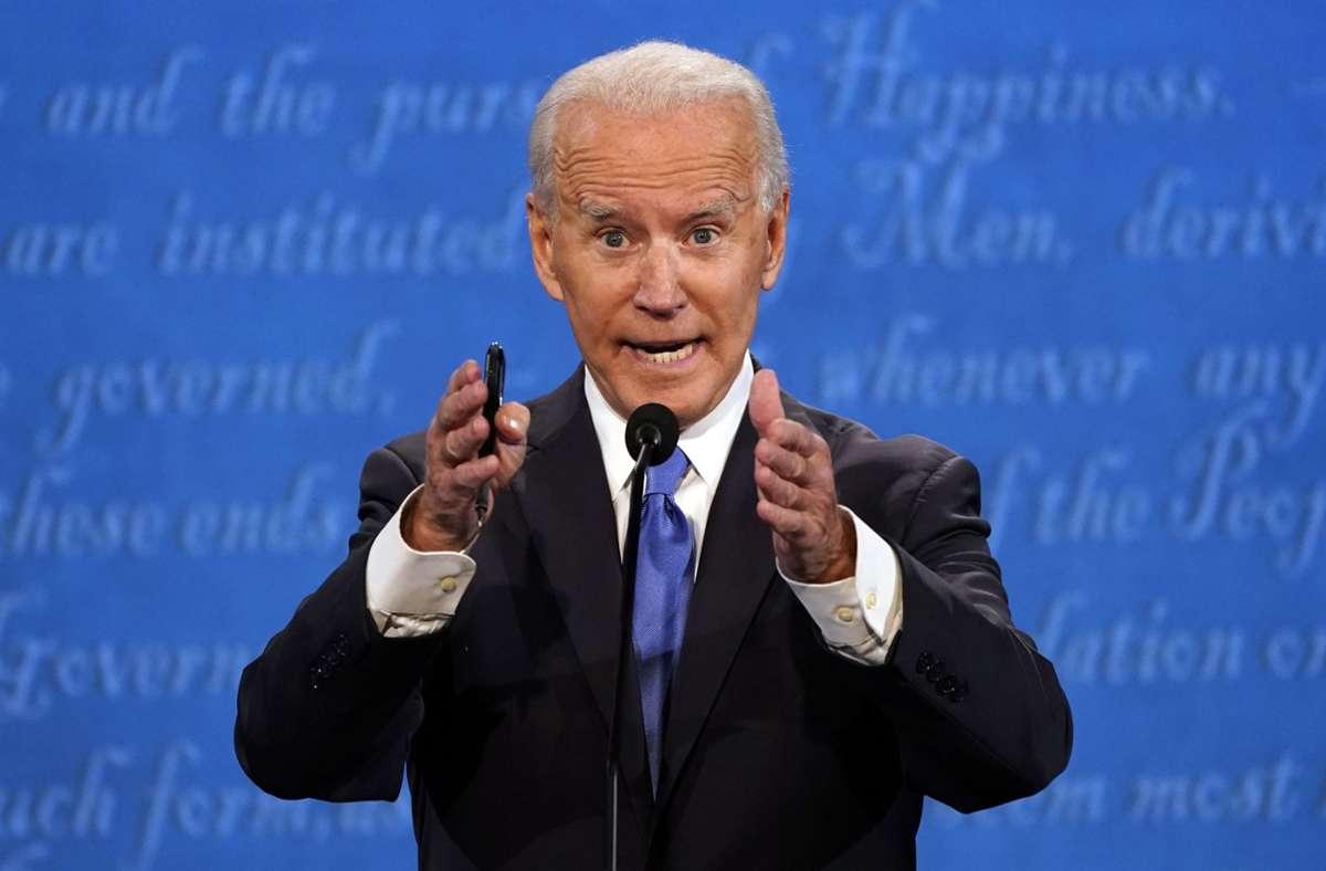 """Immer wurde Biden vorgeworfen, er habe von zweifelhaften Geschäften seines Sohnes in der Ukraine profitiert. Er antwortete: """"Ich habe niemals in meinem Leben einen Penny von einer ausländischen Quelle angenommen"""". Foto: AP"""