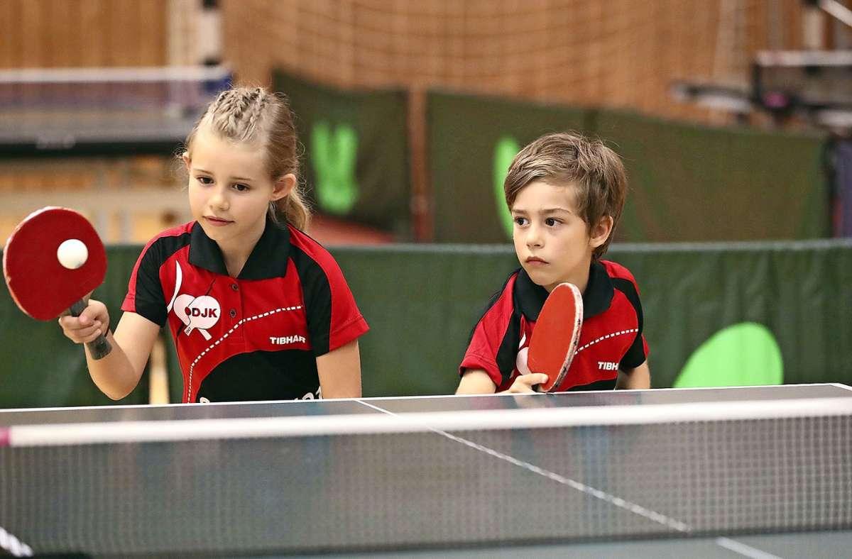 Der DJK Sportbund  Stuttgart legt großen Wert auf die Nachwuchsarbeit und ist  bundesweit  der Tischtennisclub mit den meisten Mannschaften. Foto: