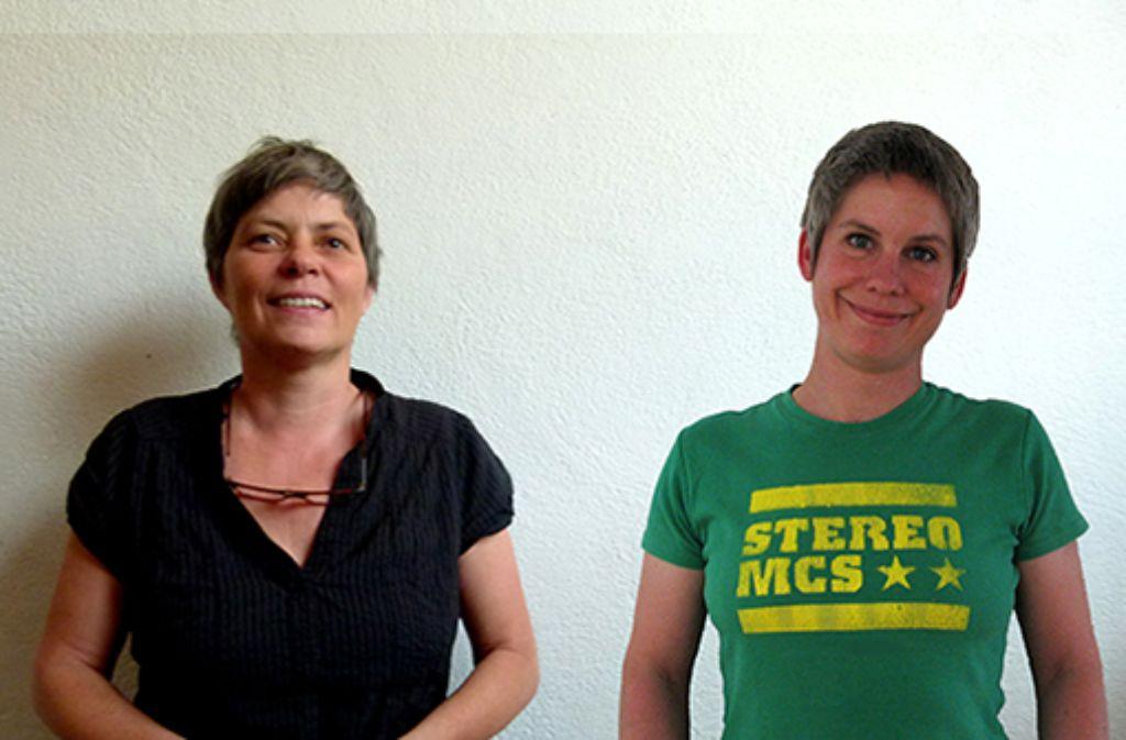 Wählerin Ute Schüler (rechts) und Nichtwählerin Julia Pfizenmayer. Foto: HdM