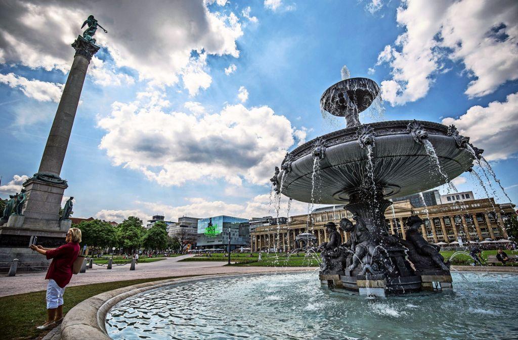 Brunnen sind in Stuttgart überall zu finden. Im Sommer sorgen sie für ein kühleres Klima. Foto: