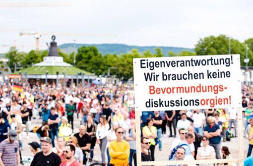 Verfassungsschutz warnt vor Radikalisierung bei Demos