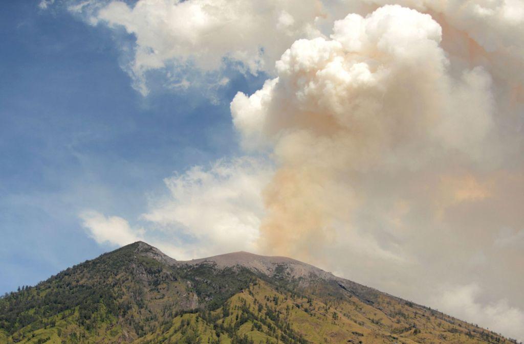 Mal wieder sorgt ein Vulkan auf Bali für Probleme. Foto: AFP
