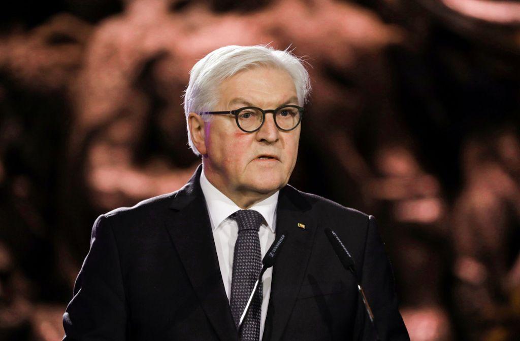 Bundespräsident Frank-Walter Steinmeier hat zum 75. Jahrestag des Kriegsendes einen Staatsakt angeordnet. (Archivbild) Foto: picture alliance/dpa/Abir Sultan