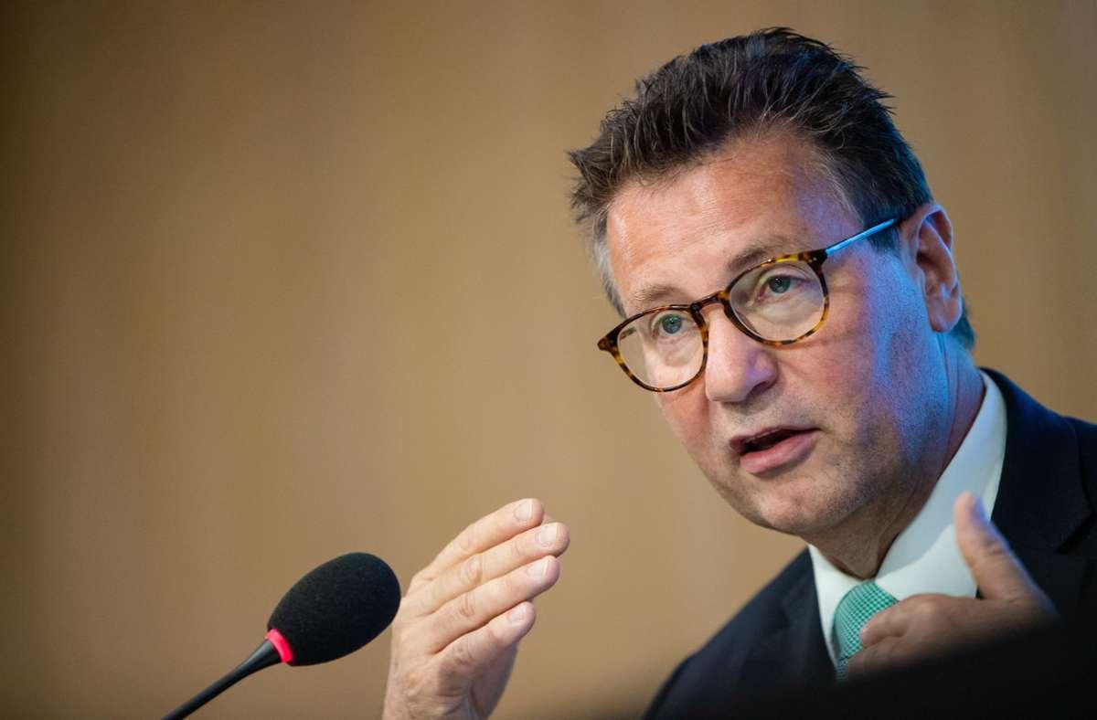Baden-Württembergs Minister für Ländlichen Raum und Verbraucherschutz Peter Hauk (CDU). Foto: dpa/Christoph Schmidt