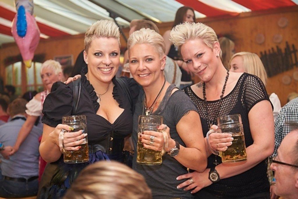 Beste Stimmung bei der Gaydelight-Wasenparty auf dem Stuttgarter Frühlingsfest. Foto: www.7aktuell.de | Alexander Schmitt