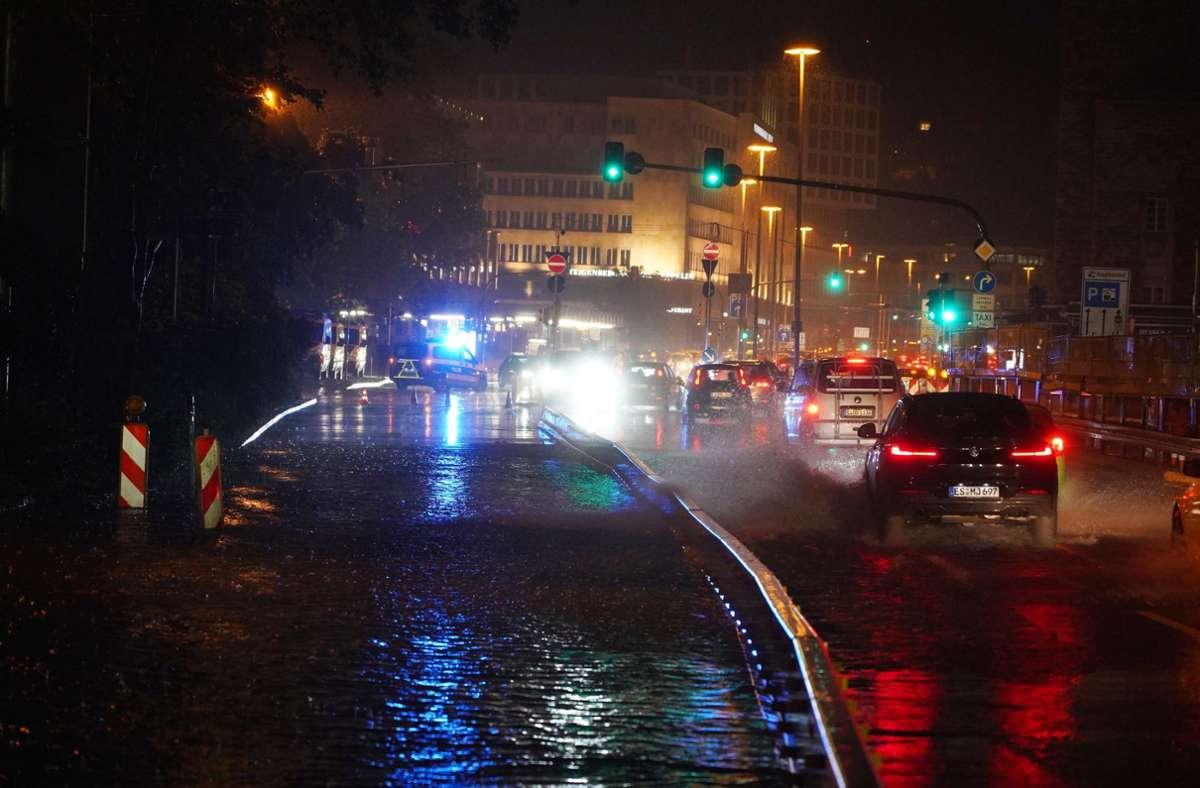 In Stuttgart kam es jüngst zu mehreren Unwettern. Foto: dpa/Andreas Rosar