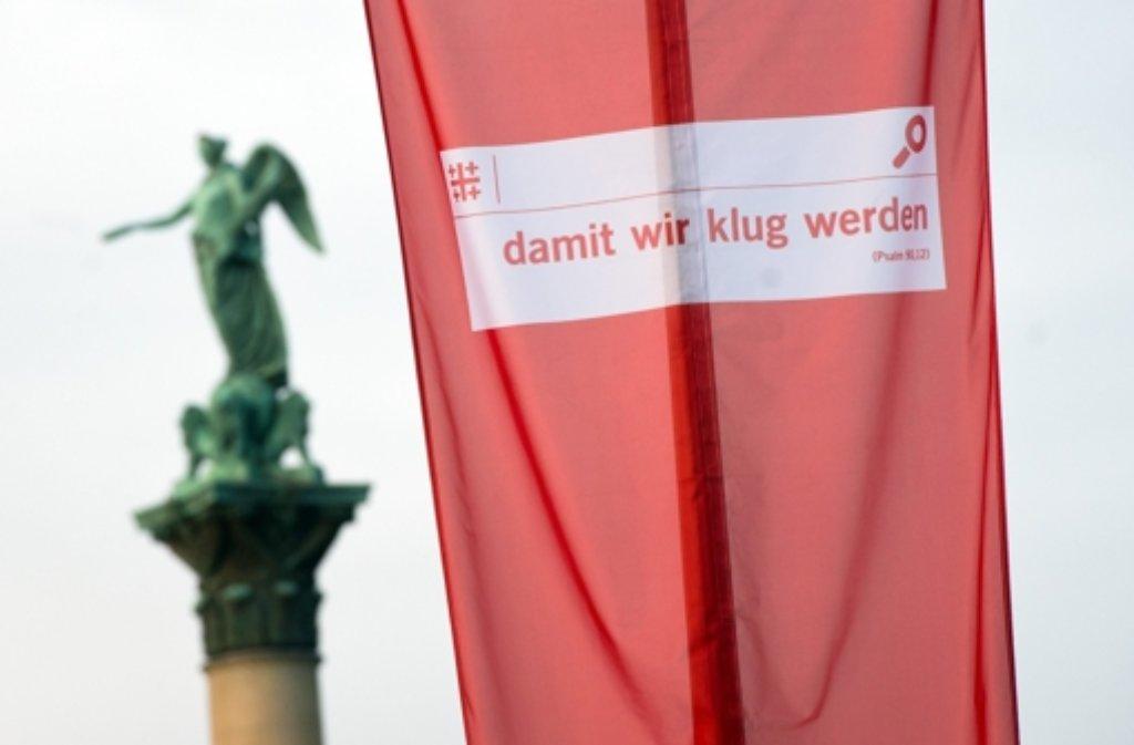 Der Kirchentag in Stuttgart beginnt. Foto: dpa