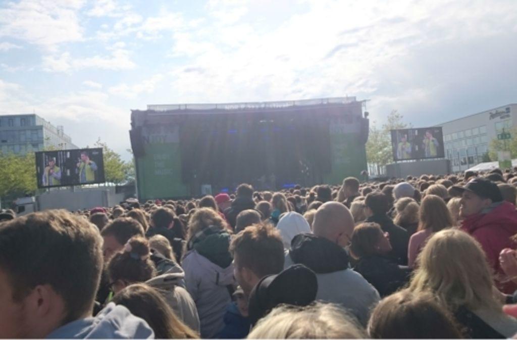 Schließlich hat das Wetter doch noch mitgemacht bei der N-Joy Starshow in Hannover. Foto: Wiebke Wetschera