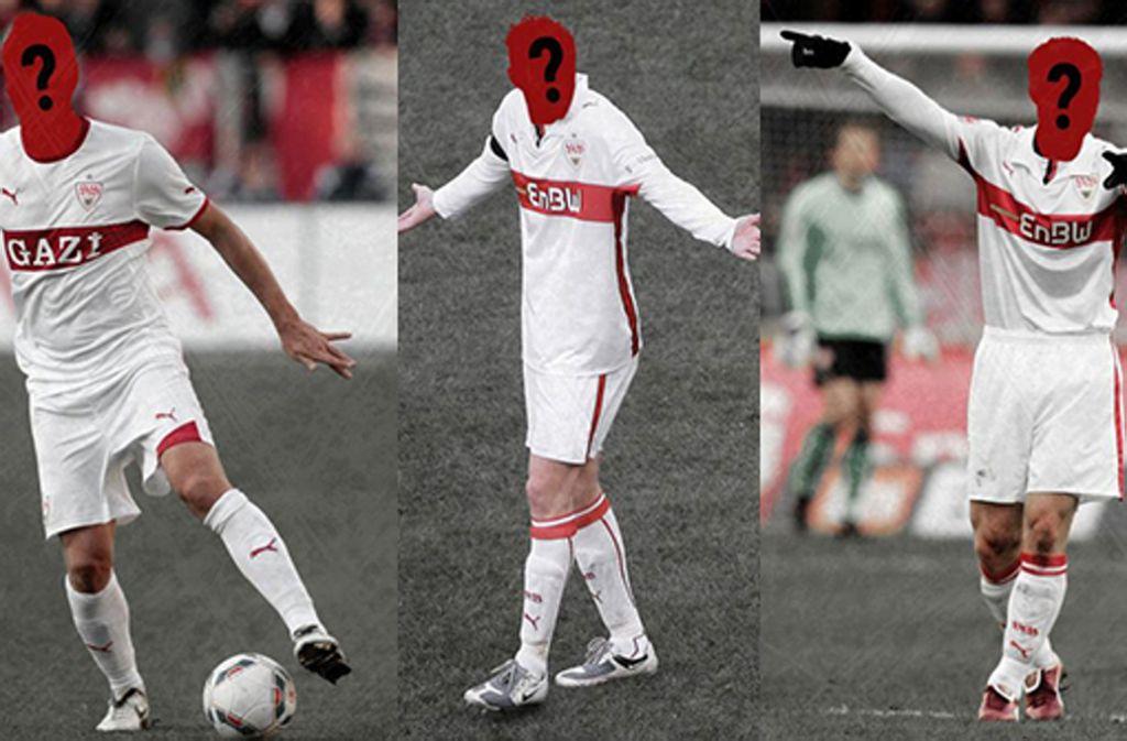 Erkennen Sie alle VfB-Spieler in unserem Quiz? Foto: Baumann/Collage STN