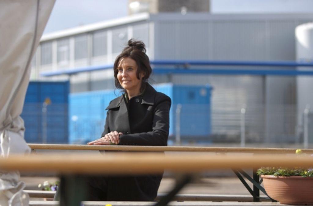 Biergartenchefin Sonja Merz Foto: Michael Steinert