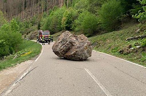 Nach Felssturz im Schwarzwald droht weitere Gefahr