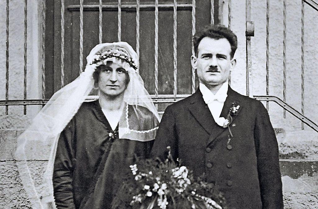 Hochzeit 1926: Bartholomäus Bumiller und Theresia geborene Freudenmann gaben sich das Jawort. Foto: Archiv Matthias Bumiller