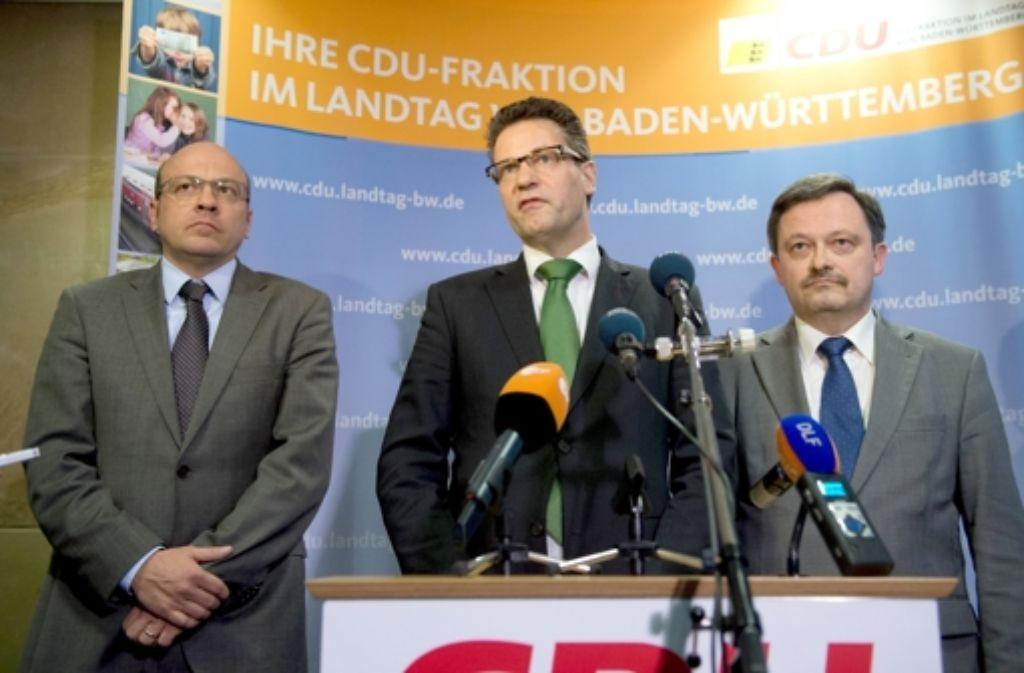 Klaus Herrmann (r.) soll neuer Vorsitzender des EnBW-Untersuchungsausschusses werden. Foto: dpa