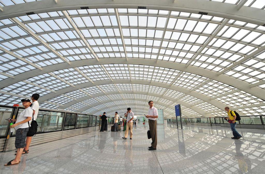 Wer am Flughafen in die Metro steigt, hat meistens noch Platz. Foto: AFP/FREDERIC J. BROWN