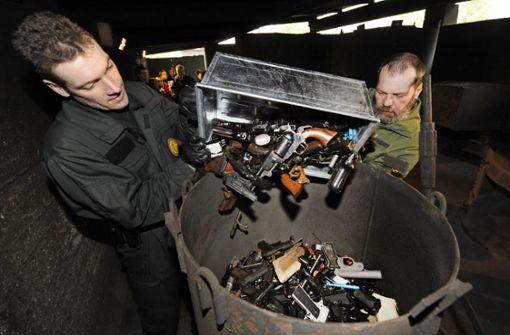 Fast 3000 Waffen im Südwesten abgeliefert