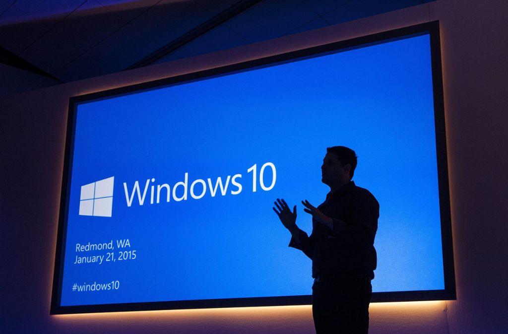 Windows-Chef Terry Myerson bei einer Pressekonferenz (Archivbild) Foto: MICROSOFT/dpa
