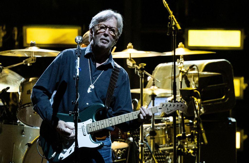 """Layla"" gibt es im Doppelpack:  Eric Clapton, der ""Gitarrengott"" Foto: AFP"