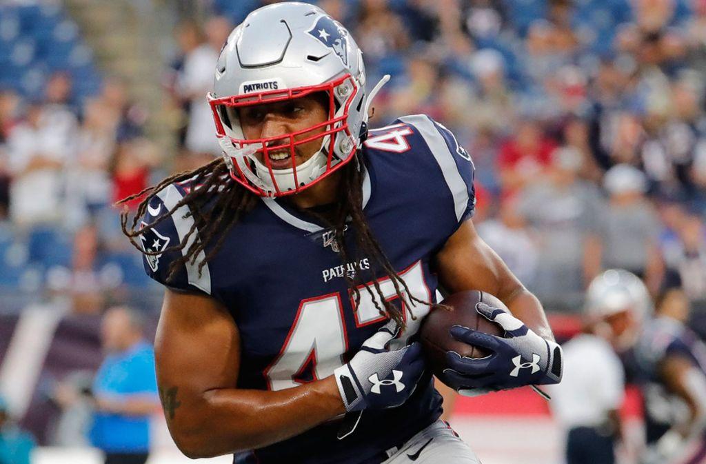 Jakob Johnson spielte dreimal in der Startformation der New England Patriots. Foto: dpa/Fred Kfoury Iii