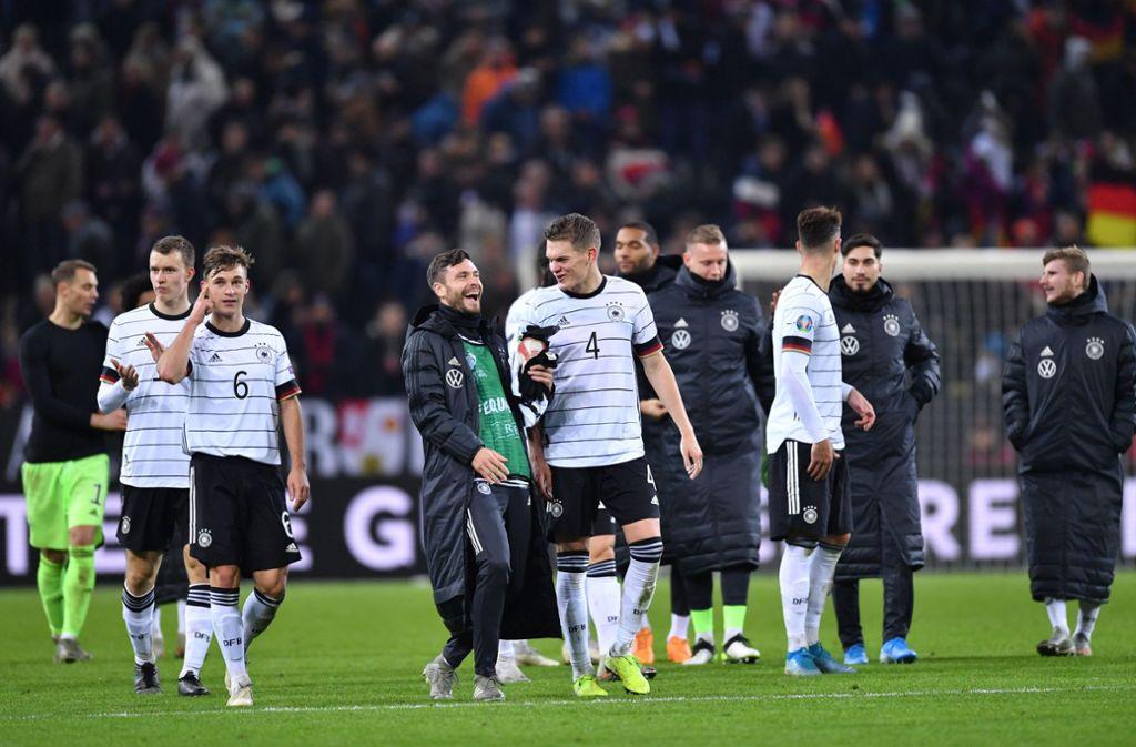 Die DFB-Elf hat einen 4:0-Sieg gegen Weißrussland gefeiert. Foto: dpa/Marius Becker