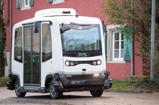 Shuttlebus für autonomes Fahren erstmals im Realverkehr
