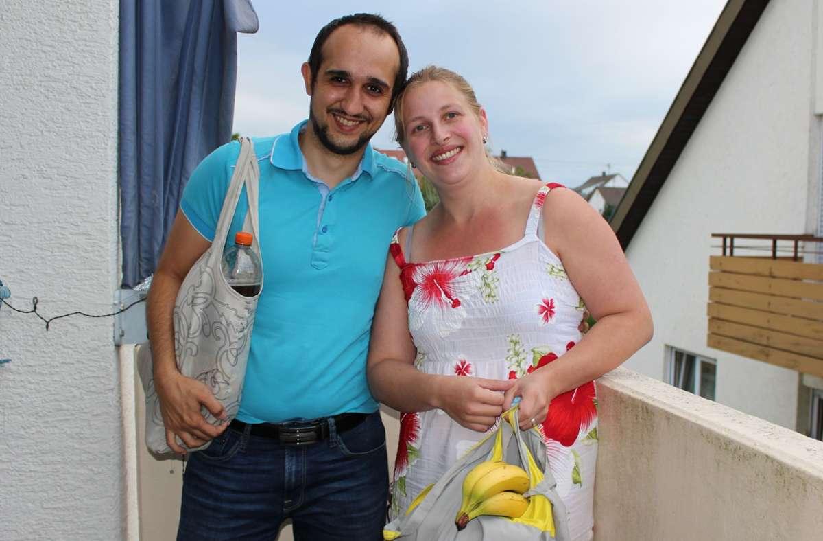 Im August haben Marco und Lisa Margari  den  Einkaufsservice gestartet. Foto: Holowiecki