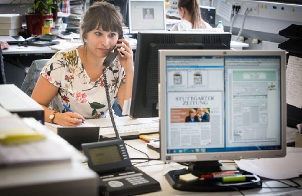 Das Trainee-Programm der Stuttgarter Zeitung richtet sich an Studenten, die sich für den Beruf des Journalisten interessieren. Foto: Lichtgut/Zweygarth