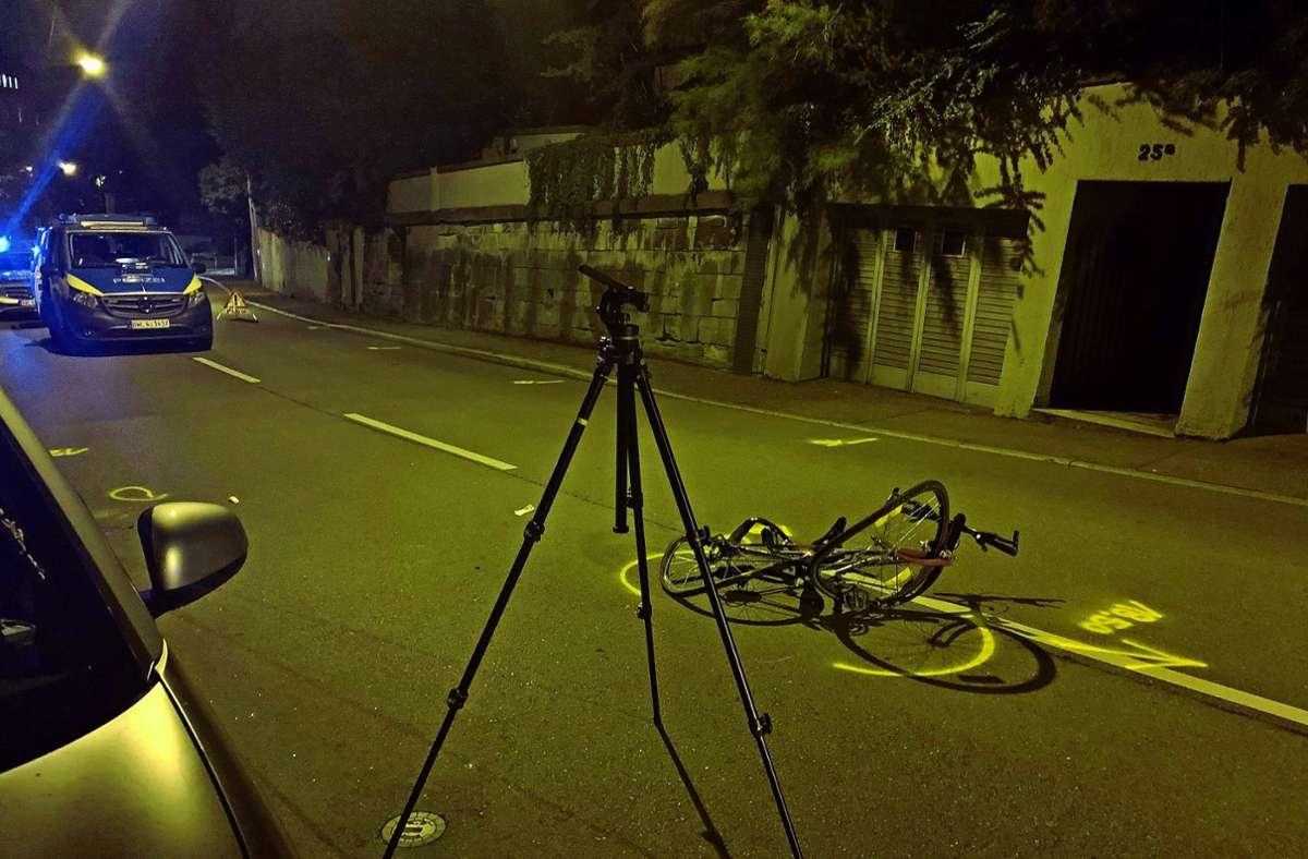 Die Polizei hat den Unfall in der Nacht untersucht und nun den Fahrer ermittelt. Foto: privat