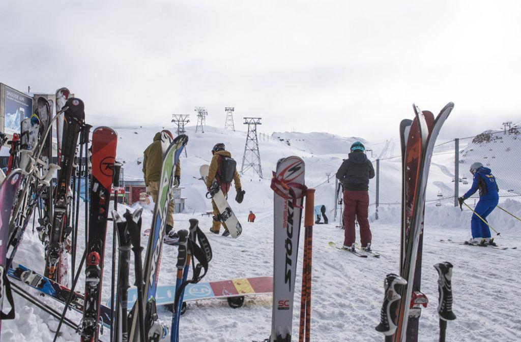 In rund 20 Jahren könnte es vorbei sein mit dem Abfahrtsski in den Alpen Foto: KEYSTONE