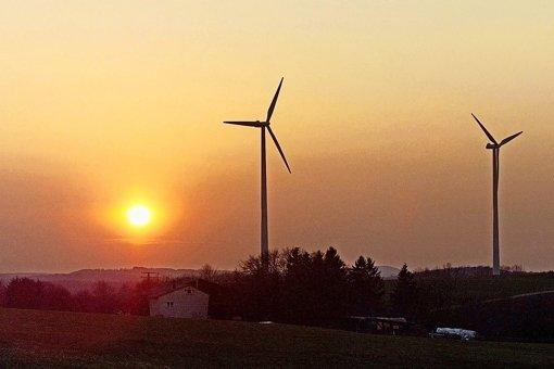 Zwei geplante Windräder (wie auf unserem Beispielbild) entzweien Lichtenwald und das Landwirtschaftsministerium. Foto: Horst Rudel