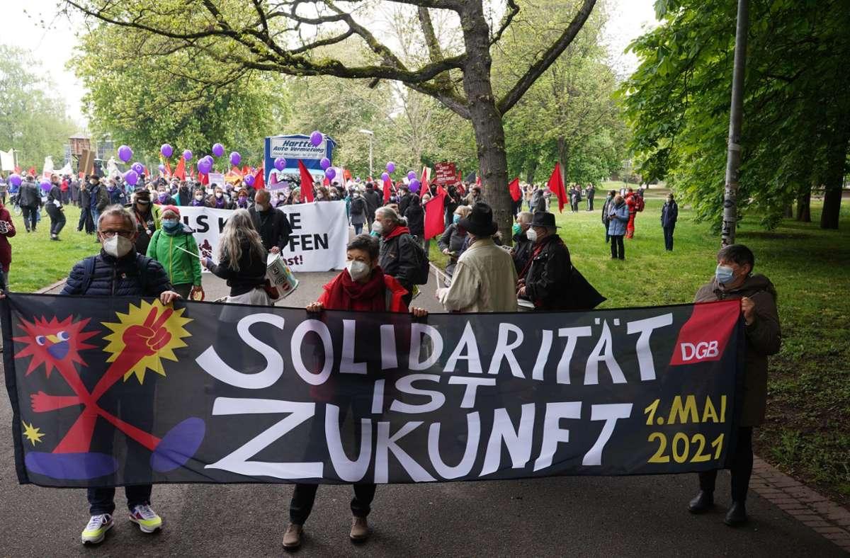 Auch in Stuttgart gingen die Menschen auf die Straße. Foto: Andreas Rosar/Fotoagentur-Stuttgart
