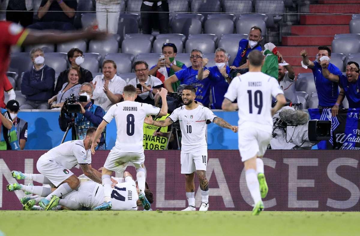 Italien überzeugt bei der EM bisher mit attraktivem Fußball. Foto: imago images/Laci Perenyi