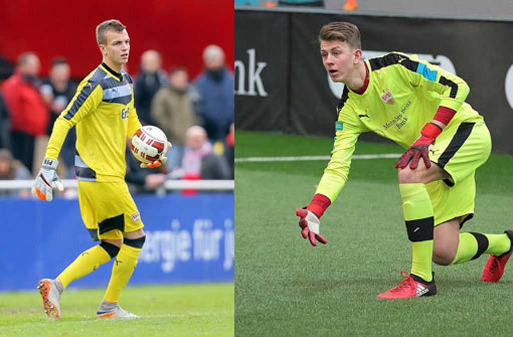 Philipp Köhn (links) wechselt nach Leipzig. Michel Witte kam vom KSC zum VfB. Foto: Baumann