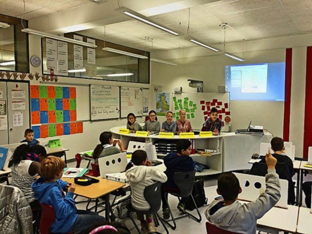 Neu ausgestattete Klassenzimmer – wie hier an der Anne-Frank-Gemeinschaftsschule  –  ermöglichen auch neue  Formen des Lernens. Foto: privat