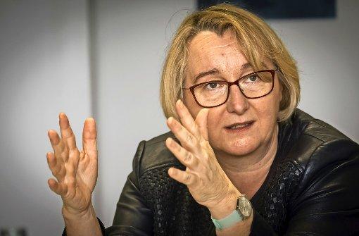 Wissenschaftsministerin Theresia Bauer beim Redaktionsbesuch Foto: Lichtgut/Achim Zweygarth