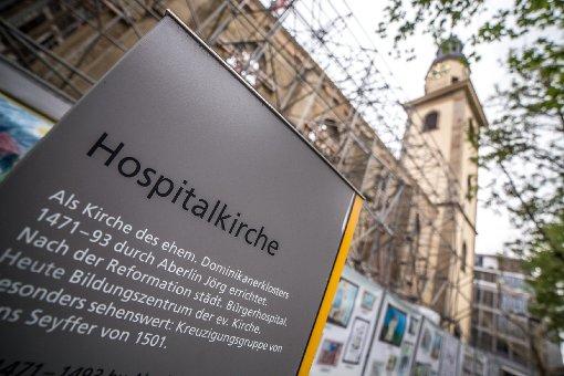 Baustellen: Der Hospitalhof im April