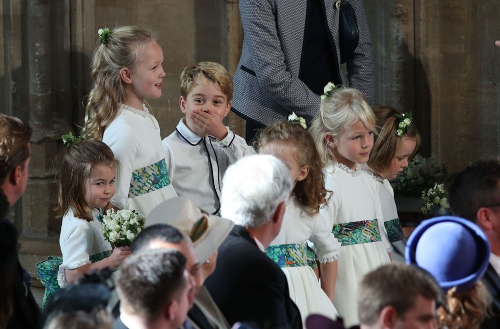 Prinz George macht Faxen in der Kirche. Foto: Getty Images Europe