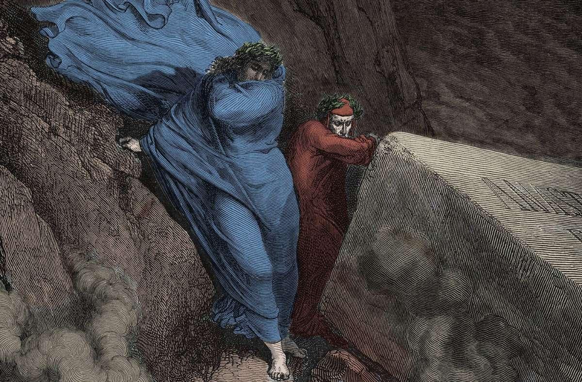 """Hier riecht's nicht gut: Illustration von Gustave Doré  zu Canto 11 der """"Göttlichen Komödie"""". Foto: imago/Leemage/imago stock&people"""