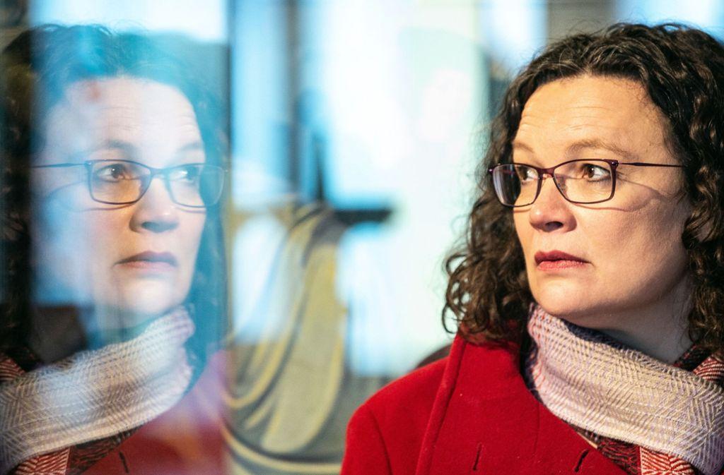 SPD-Chefin Andrea Nahles will eine 15 Jahre währende Debatte in der SPD über Hartz IV beenden. Foto: dpa