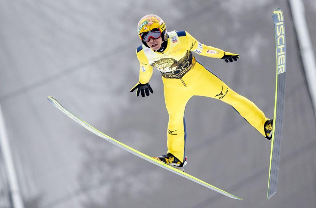 Immer noch auf dem Höhenflug: Skispringer Noriaki Kasai Foto: Getty