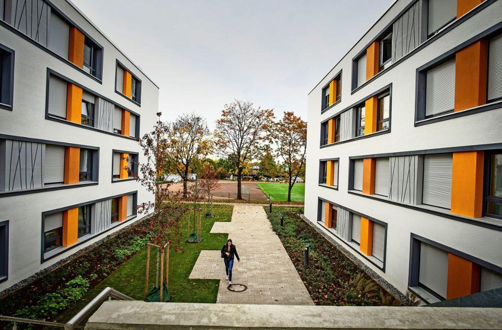 Das neue Studierendenwohnheim an der Egilolfstraße in Hohenheim Foto: