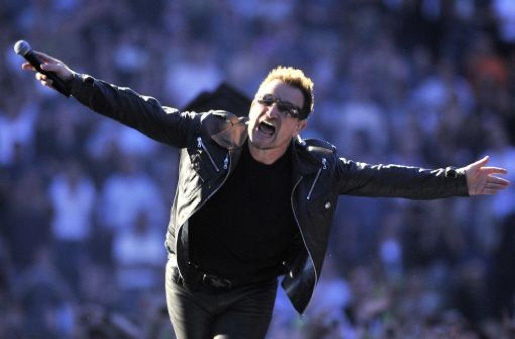 U2-Frontmann Bono Foto: dpa