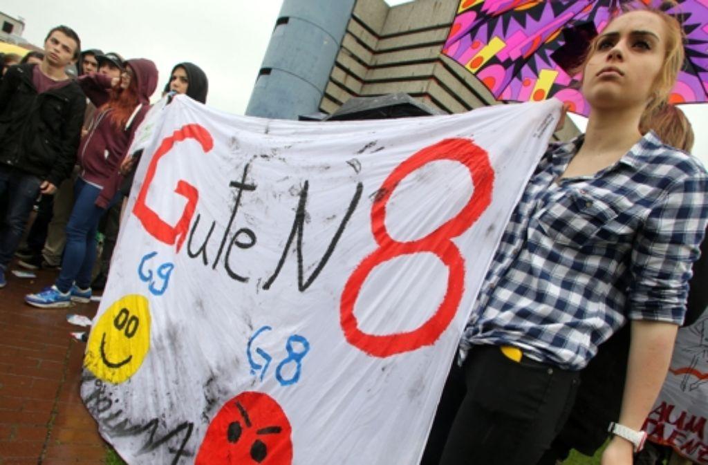 Protest allerorten: Viele Länder wollen zurück zum neun-jährigen Gymnasium. Foto: dpa