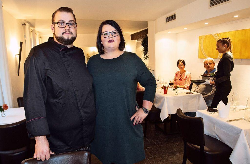 Ambitionierte schwäbische Küche: Jennifer und Sascha Grampp Foto: Ines Rudel