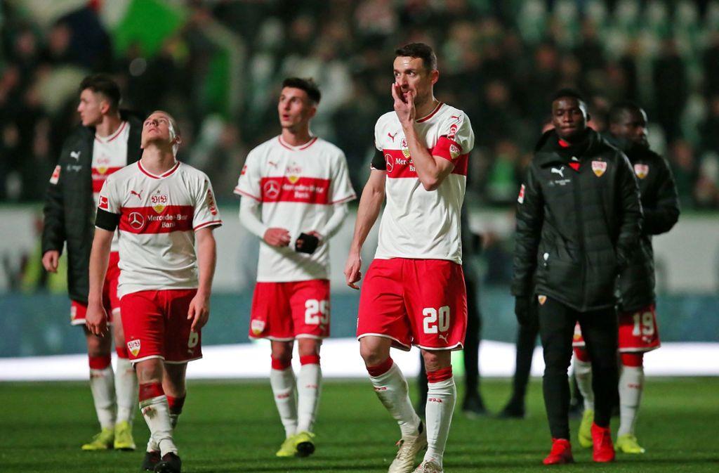 Der VfB kam in Wolfsburg nicht über ordentliche Ansätze hinaus. Foto: Pressefoto Baumann