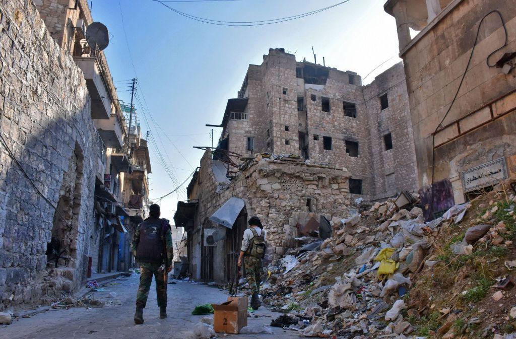 Die syrische Stadt Aleppo ist ein Trümmerfeld – und der Krieg tobt weiter. Foto: AFP