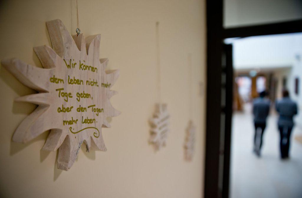 Sterbebegleitung im Hospiz Foto: dpa