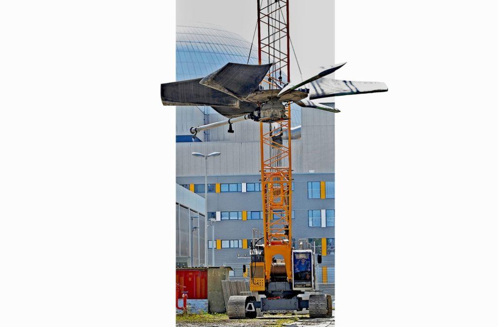 Ungeliebter Schrott: Die Überbleibsel des Kernkraftwerks in Neckarwestheim. Foto: dpa